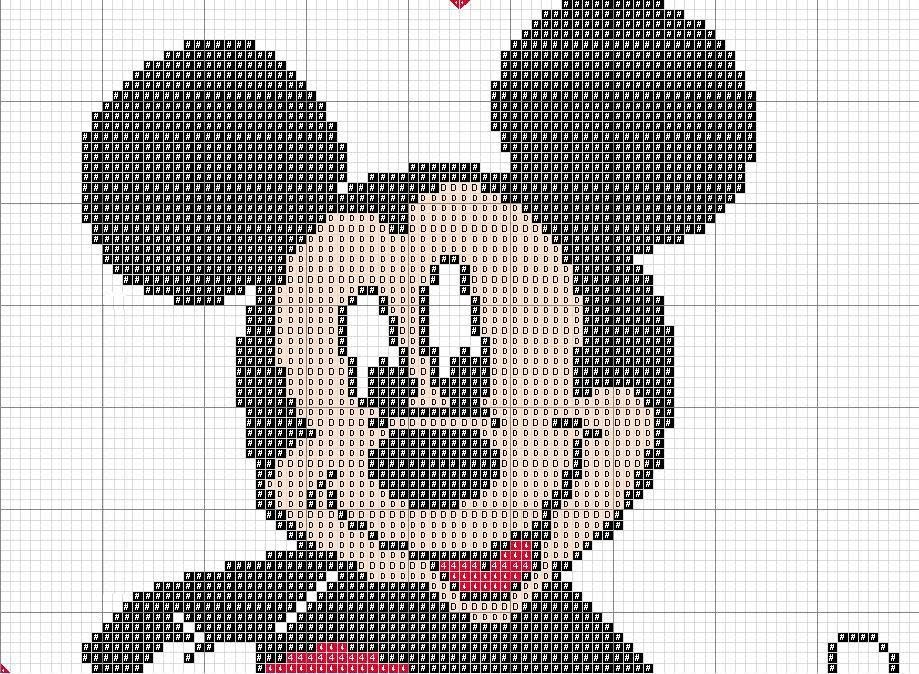 grafico mickey ponto cruz