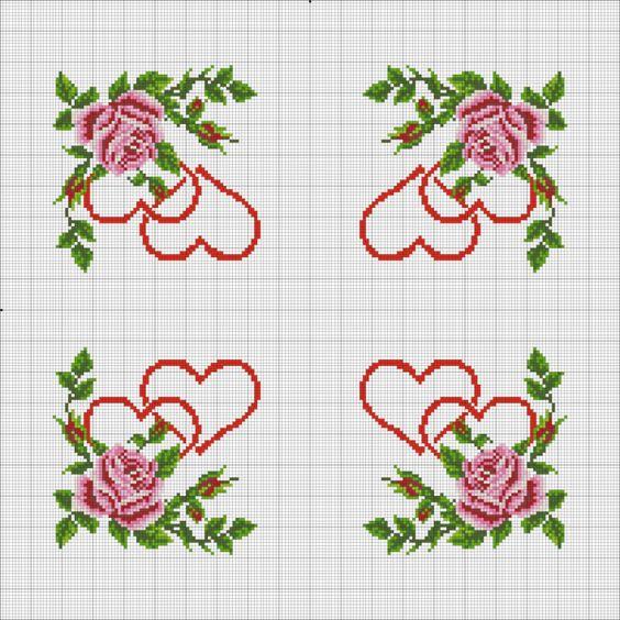 lindas rosas ponto cruz