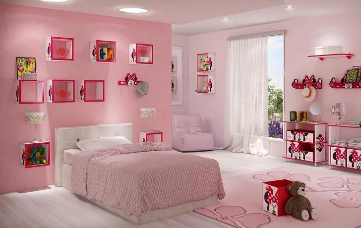 nichos decorados em quartos infantis