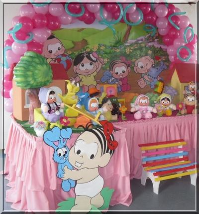 Festa turma da Mônica baby e, rosa