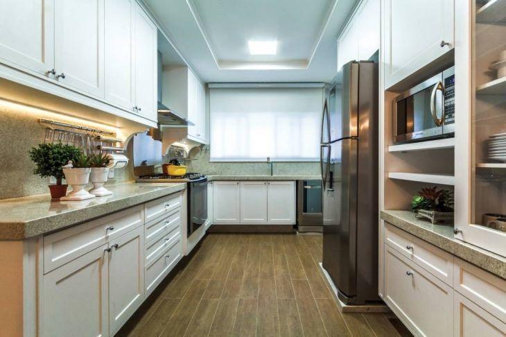 Porcelanato de madeira na cozinha
