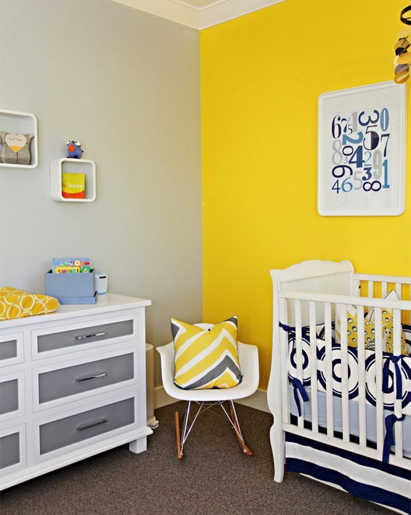 amarelo e cinza juntos no quarto