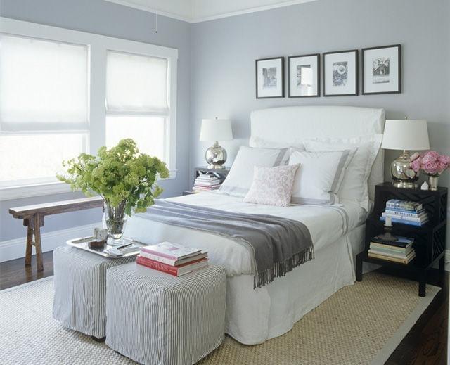 lindo quarto pintado com cinza claro