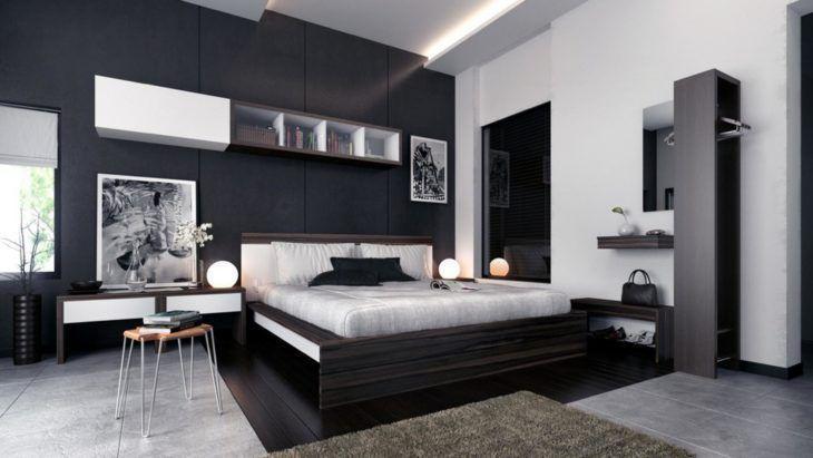 preto com cinza no quarto