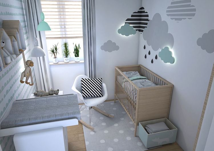 quarto de bebe cinza