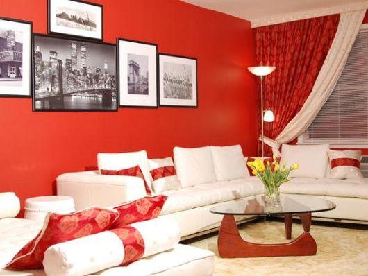 vermelho na parede de sua sala