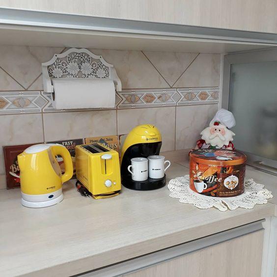 cantinho do café organizado