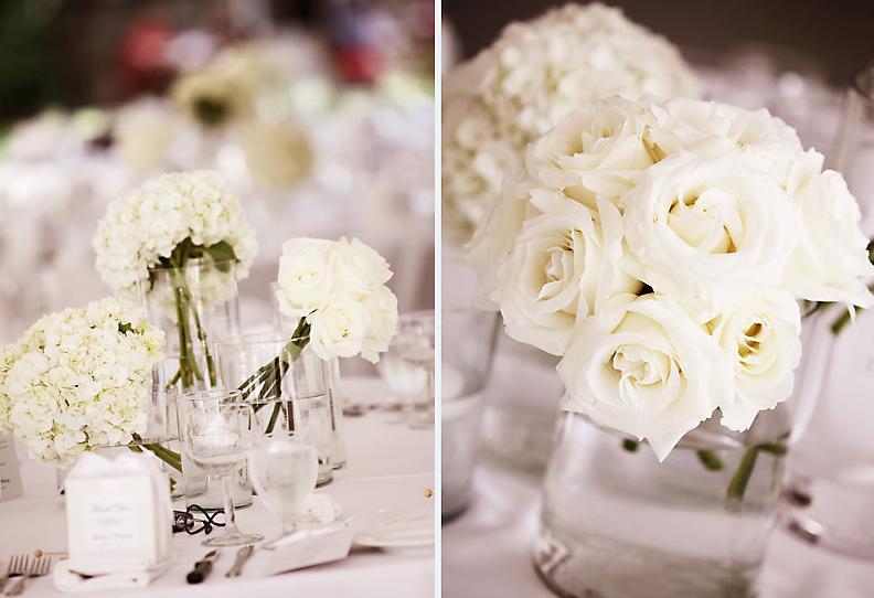 rosas brancas Como arranjo de mesa