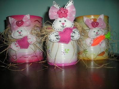 coelinhos feito nas latas de leite
