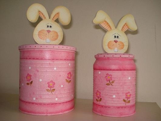 lata de leite com decoraçãod e páscoa