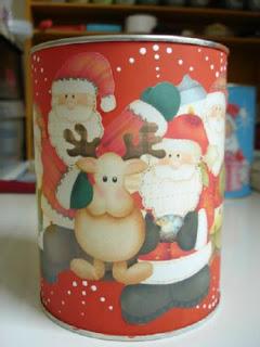lata de natal em latas de leite