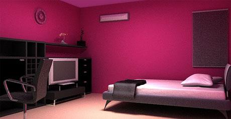 magenta na parede do seu quarto