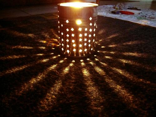 Iluminação artesanal em Junina