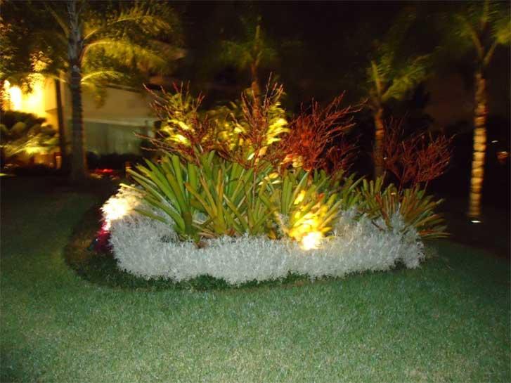 Iluminação de jardim usando leds