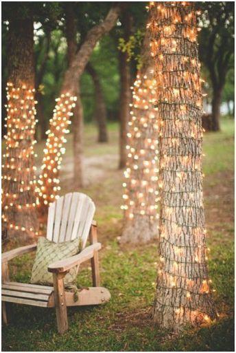 Iluminação externa para casamento