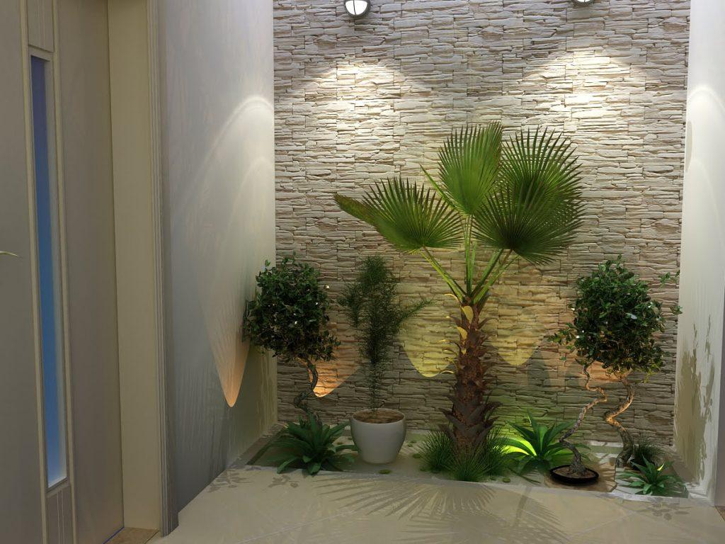 Iluminando o jardim com luzes diferentes dentro da casa