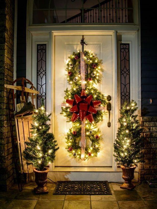 Iluminando o jardim para o natal