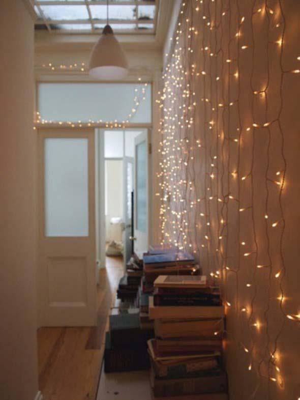 Luzes para decorar na parede do seu quart