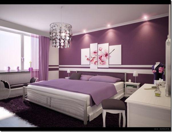Misturando lilás e roxo no mesmo quarto