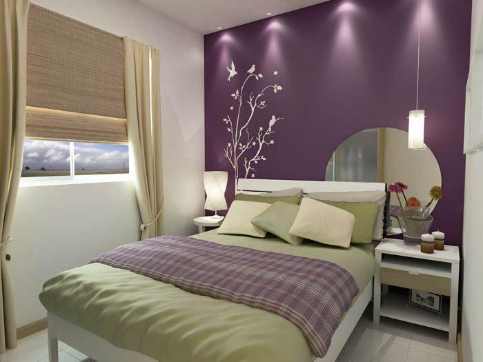 Verde combinando com lilás no mesmo quarto