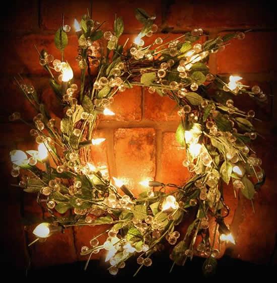 guirlanda natalina com luzes decoradas