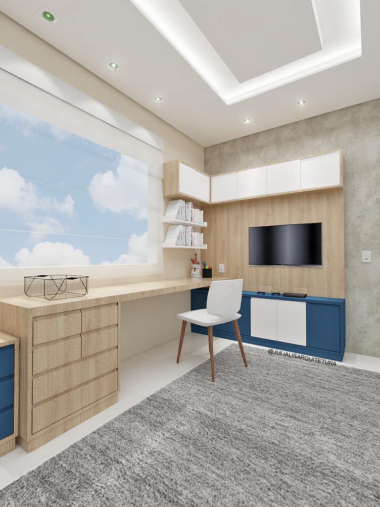 móveis de madeira clareada no quarto