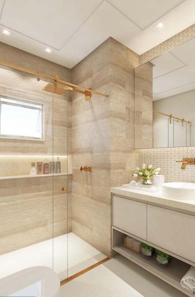madeira alvejada no banheiro