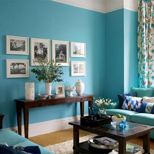 Azul considerado neutro decorando a parede
