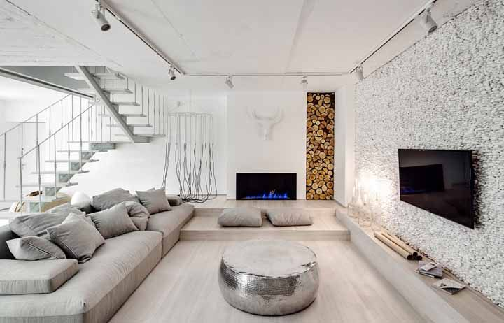 Branco completando a decoração como cor neutra