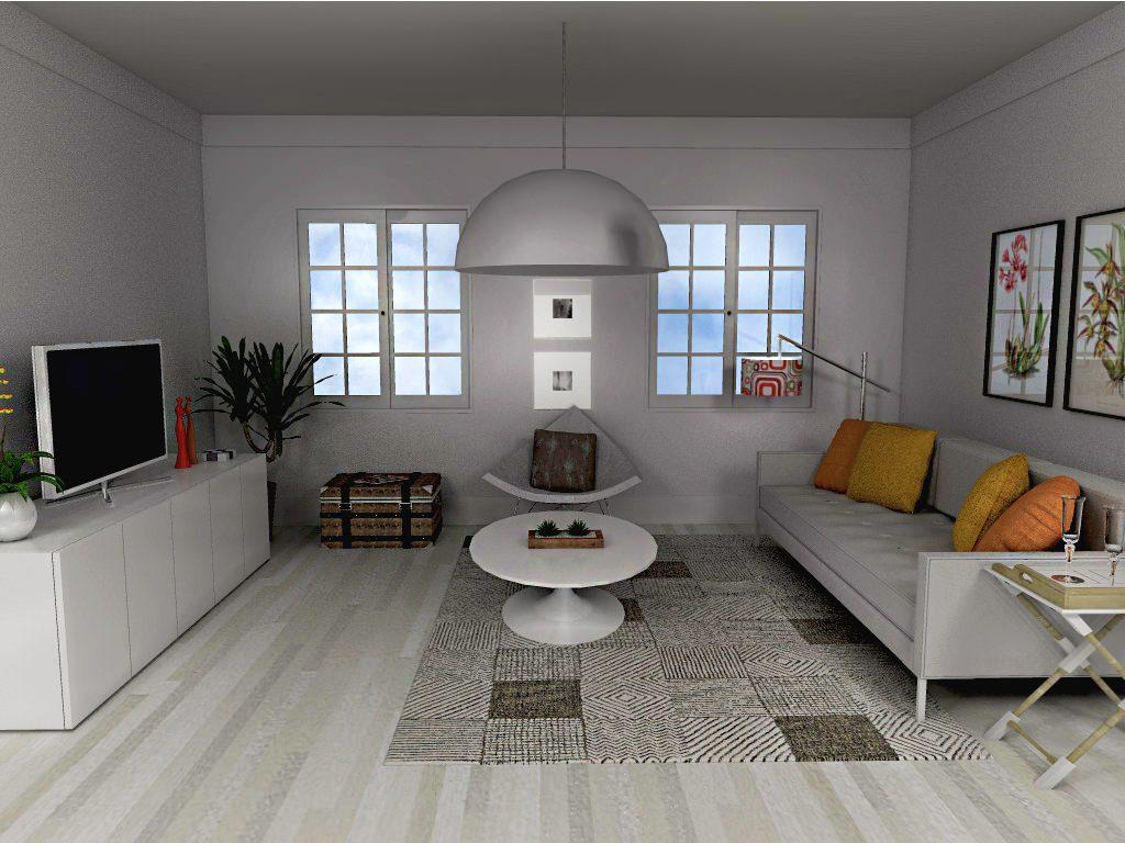 Branco usado como cor neutra na sala