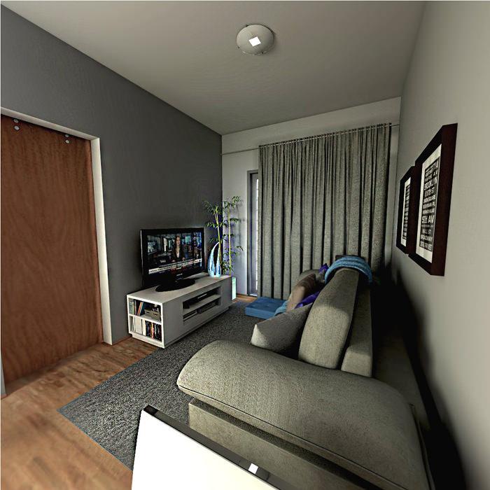 Cinza como cor neutra na sua sala de estar