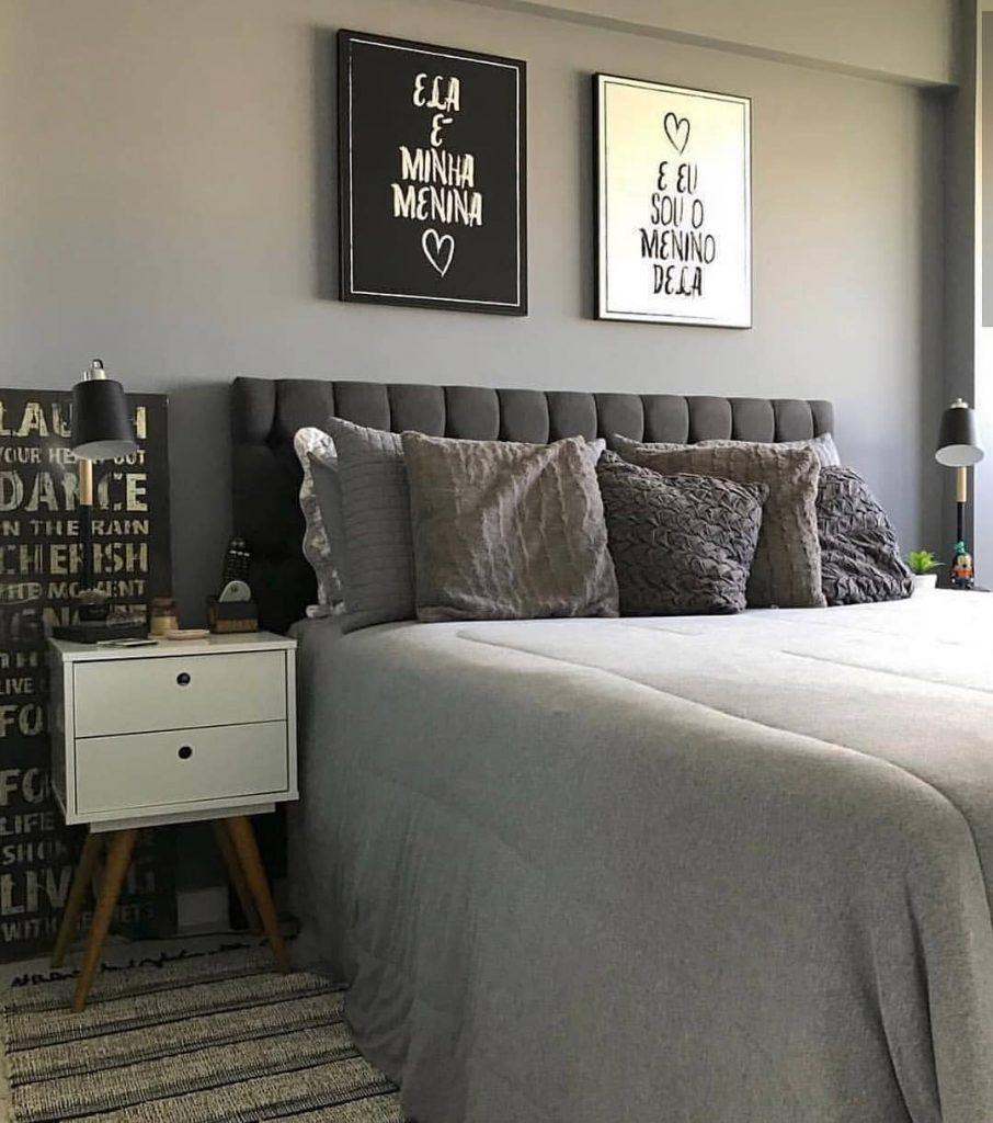 Cinza neutro no quarto