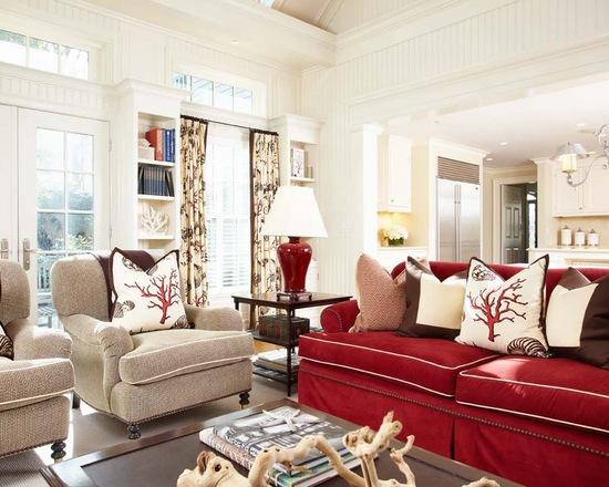 Combinando rosa e vermelho na decoração