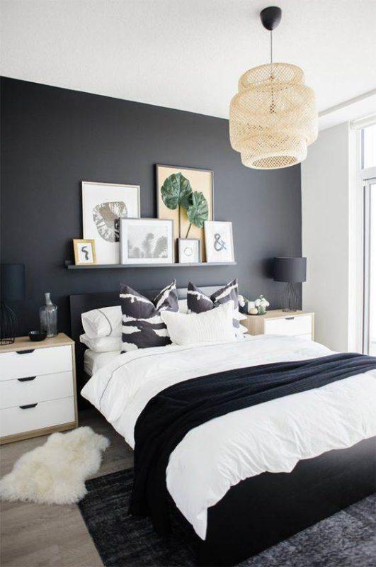 Como decorar o quarto em perto e branco de maneira linda