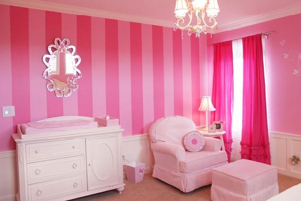 Decoração rosa no quarto
