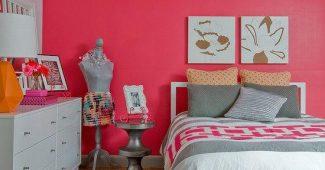 Decoração rosa no seu quarto