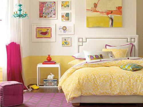 Diferentes rons de rosa e amarelo