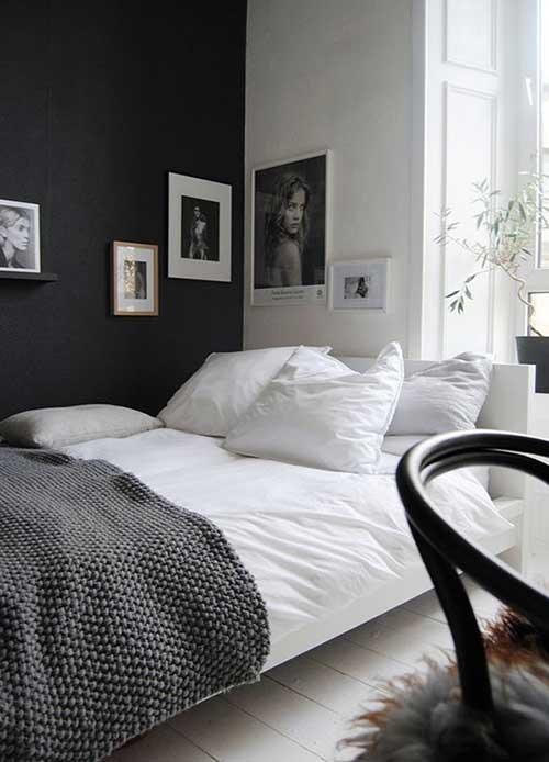 Ideias simples de decoração preta e branca