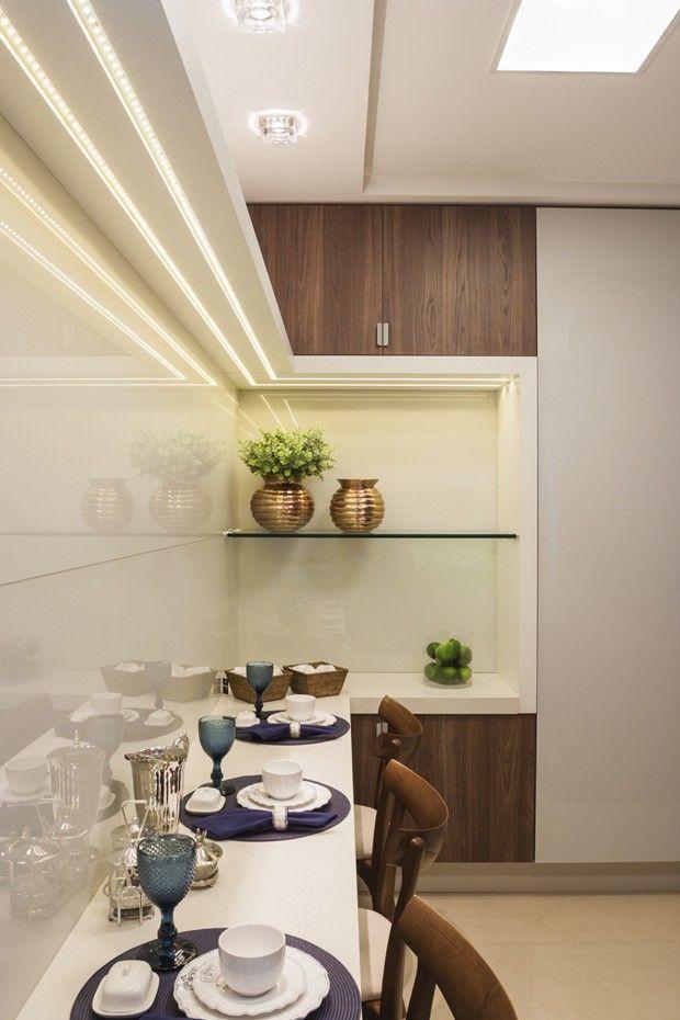 Iluminação de cozinha feita com led