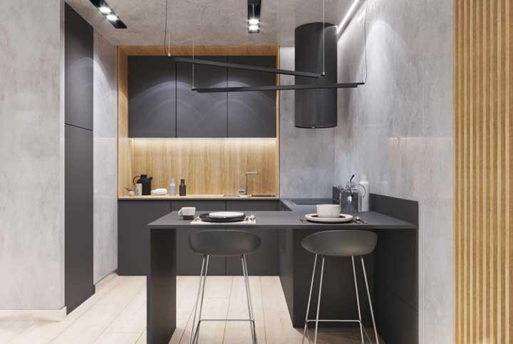 Iluminação feita com leds na cozinha da sua casa
