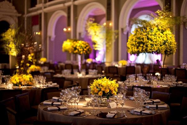 Rosa e amarelo na decoração