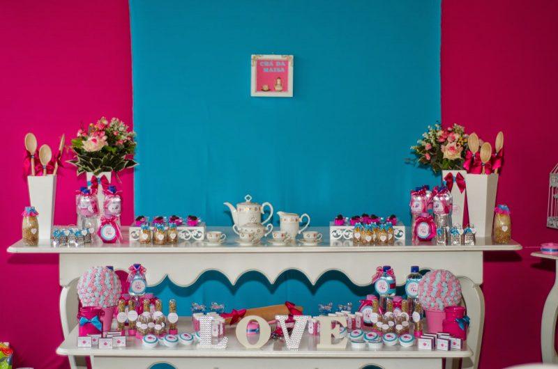 Rosa e azul na decoração