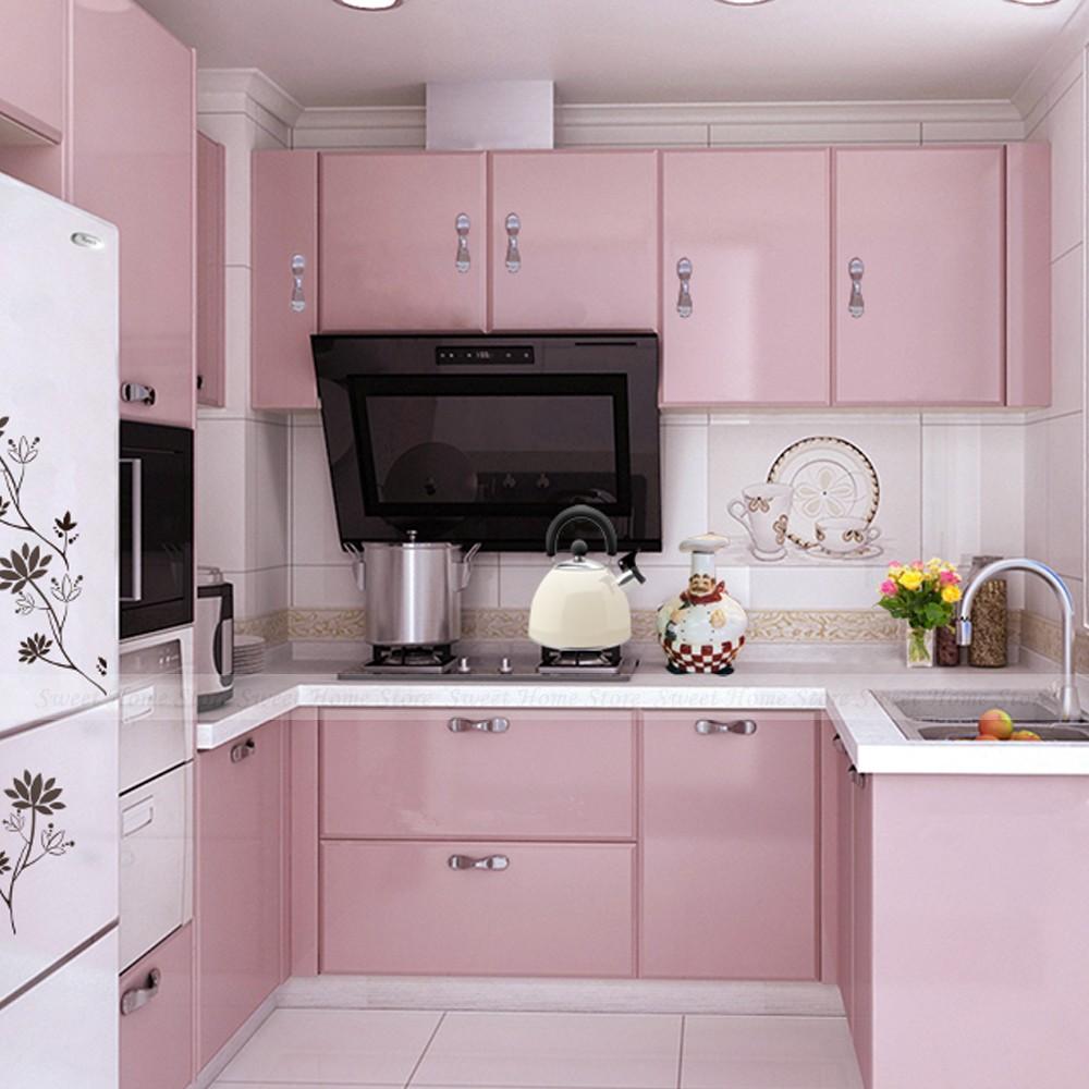 Rosa fraco neutro na cozinha
