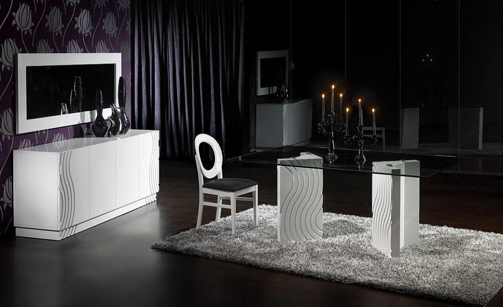 Sala de esatr com decoracao em preto e branco
