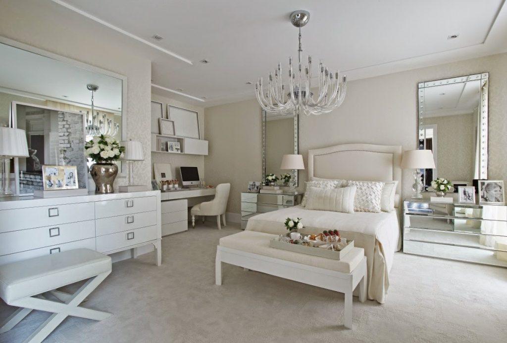 Usando branco como cor neutra no quarto