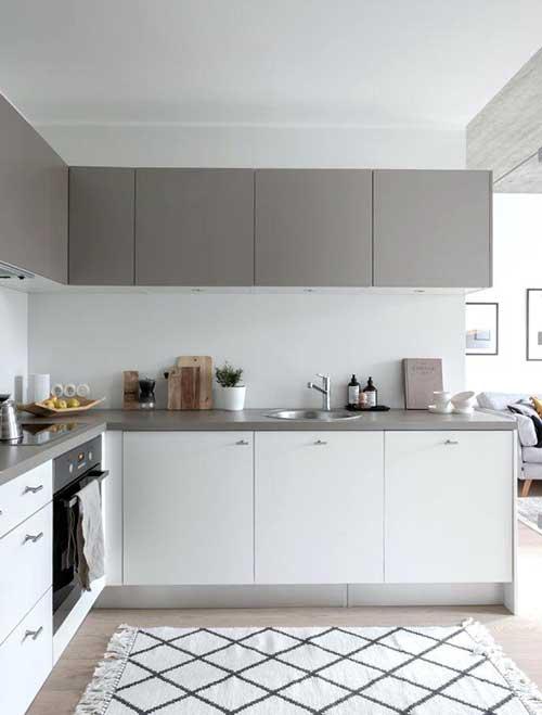 Usando o branco como cor neutra na cozinha