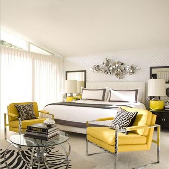 Amarelo e branco juntos decorando o seu quarto
