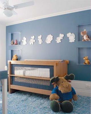 Azul petrolado na decoração do quarto infantil