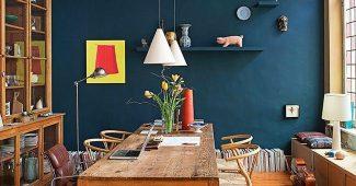 Azul petroleo na sala de sua casa