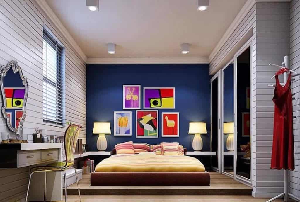 Azul petroleo na sua decoração do quarto
